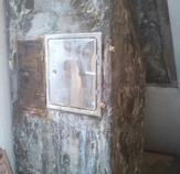 Extremes Schadensbild eines viel zu groß dimensionierten Schornsteins in Verbindung mit der daran angeschlossenen Ölheizung