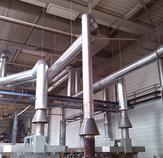 Abgasleitungen für die Glühöfen - BAK Boysen, Simmersfeld