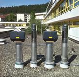 Abgasleitungen mit Rauchsaugen, Gasgeräteprüfstände Berufsschulzentrum Nagold