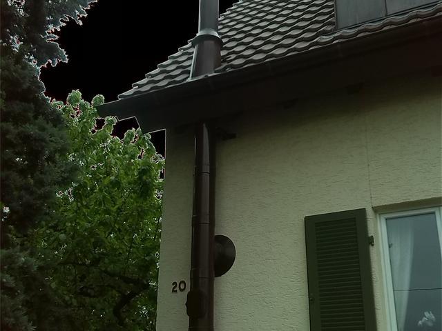 Pulverbeschichteter Schornstein für einen Kaminofen, RAL nach Kundenwunsch - Korntal/Münchingen