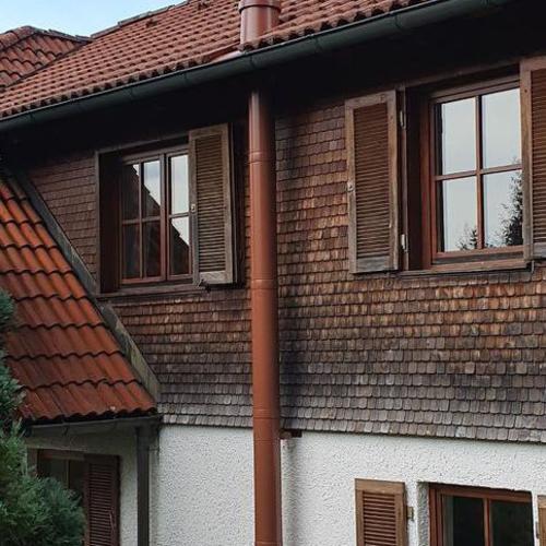 Edelstahlschornstein für einen Heizkamin, Niedereschach
