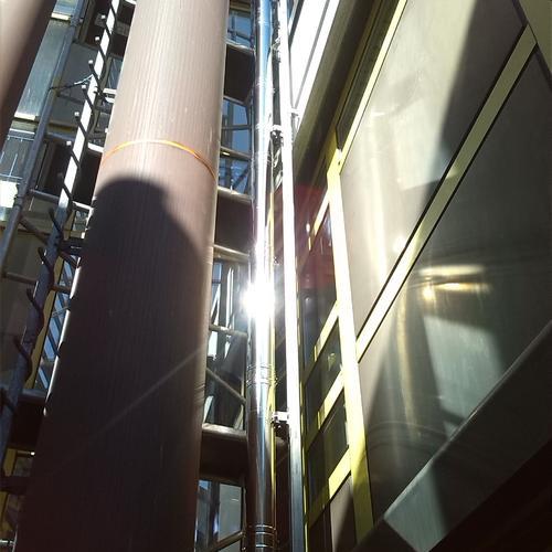 Abgasleitung für BHKW, Berufsschulzentrum Nagold