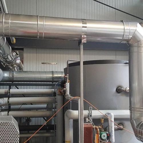 Abgasleitung für einen Dampferzeuger