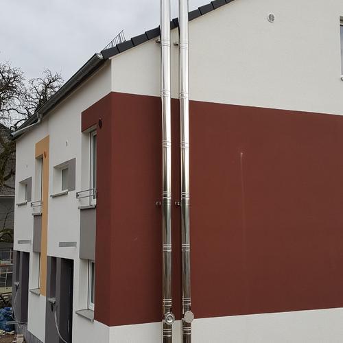 Abgasleitungen für BHKW und Brennwertkessel - Lindenweg Meersburg