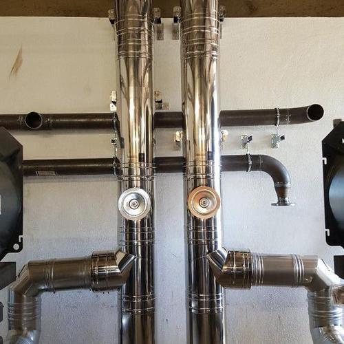 Abgasleitungen für zwei Gas-Brennwertkessel - Boysen Straubing
